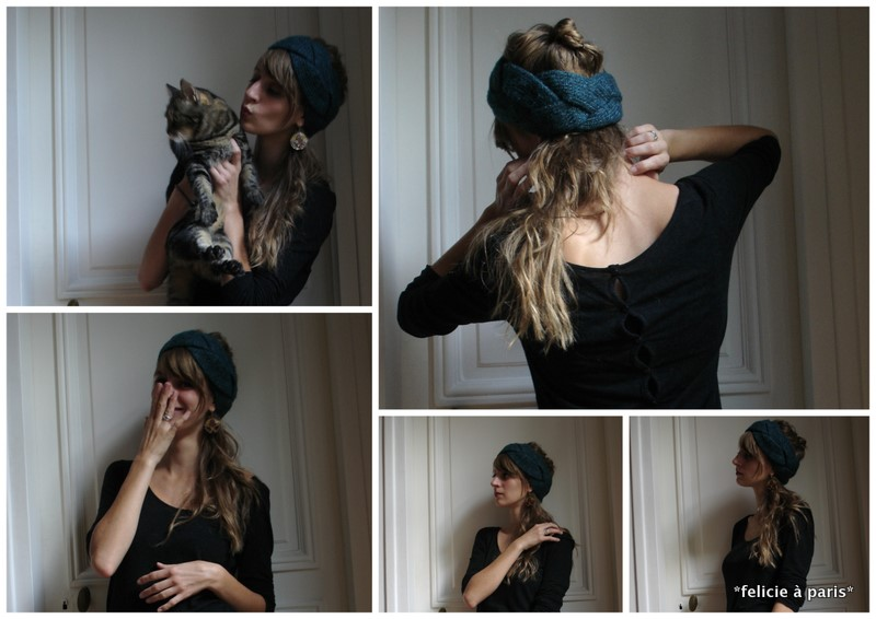 tricoter un turban. Black Bedroom Furniture Sets. Home Design Ideas