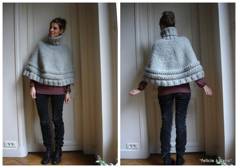 comment tricoter un poncho 12 ans